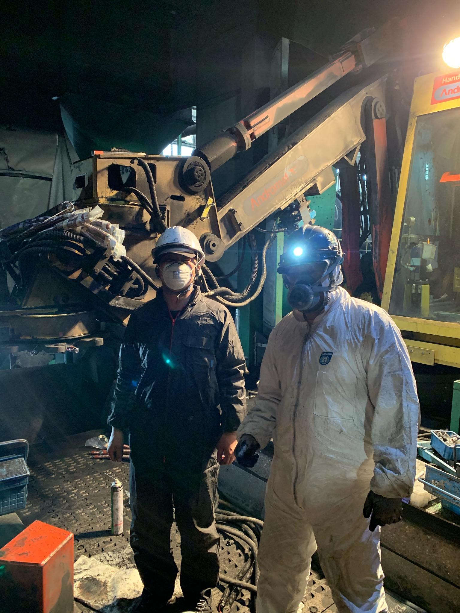 長野にて 油圧ホース交換及びガス切断にて改造